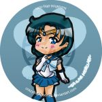 Sailor Mercury Button by CrazyForJapan123