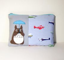 Totoro umbrella airplane pouch by yael360