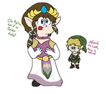 Link and Zelda swap by Starfighter364