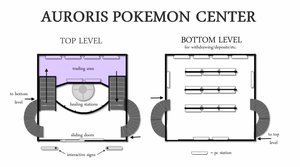 Auroris' Pokemon Center Layout by lixelated