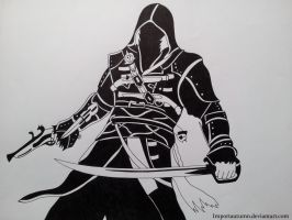 Assassins Creed Tribal Drawing [Drawn on Youtube] by ImportAutumn