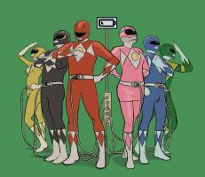 Low Power Rangers by TheMichaelMacRae