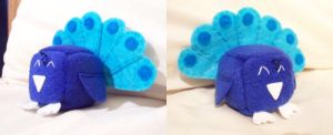Peacock Cube Plushie by Cube-lees