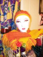 Orange Scarf and Hat by BreachofReality