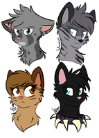 Warrior Cats quick headshots by AniOwO