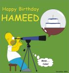 Happy B-Day Hameed by GhostHead-Nebula