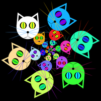 Cat circles by n-0-n-a