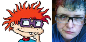 My parents said I look like Chucky from Rugrats by Jumbled-Journi