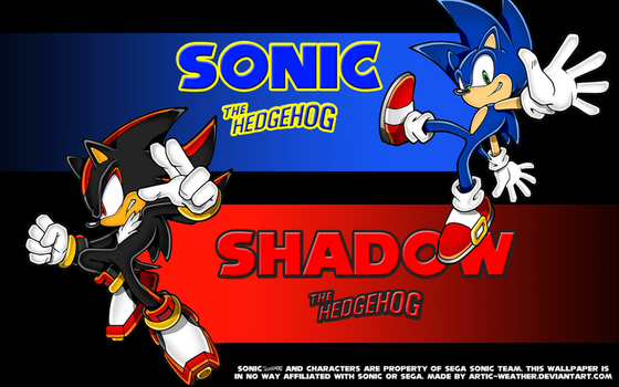 Sonic and Shadow wallpaper by ARTic-Weather
