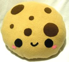 Chocolate Chip Cookie Pillow by SugarJerseyJones