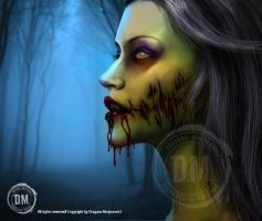Zombie girl by GRAPHICSOUL