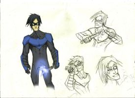 Nightwing sketch by Sabrerine911