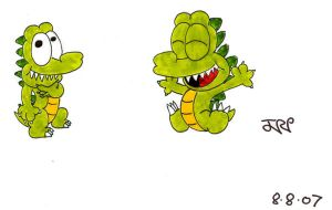 Happy crocodile by JimmyCartoonist