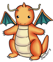 Dragonite- 149 by StarxBerry