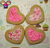 Scented Heart Sugar Cookies by pinknikki
