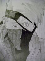Sad Kakashi In The Rain by MrHaussman