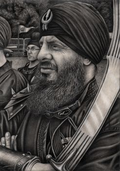 'GATKA' graphite drawing by Pen-Tacular-Artist
