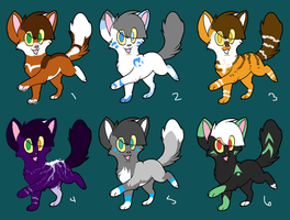 Kitten Point Adoptables I -OPEN- by CanineAdoptions