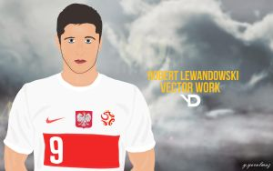 Robert Lewandowski Vector by bluezest1997