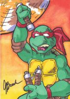 Sketch Card #5 - Michelangelo by destinyhelix