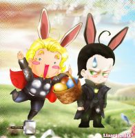 Asgard easter bunnies by liaartemisa