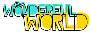 Texto PNG Wonderful World by AguustiinaEditions
