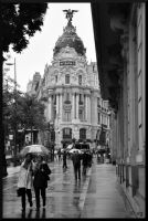 Rainy Madrid by vinc-photography