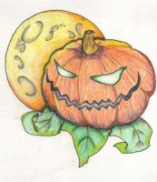 Pumpkin Under the Harvest Moon by InkedPage