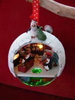 Finished Igloo Christmas Bauble. by Jalpon