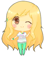 Another chibi version of me~ by MyStarryDreams