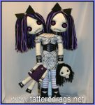 siamesetwin conjoined twins  skulls gothic creepy by Zosomoto
