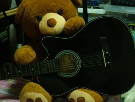 Teddy Bear Guitar by shagne