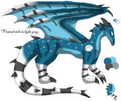 .:Aqua Dragon:. by FantiaFantasyStories