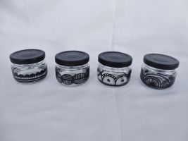 Lace Candle Holders by kampfly