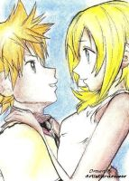 Roxas and Namine Fanart by Artistic-drawer