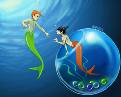 KevEdd mermen_Come with me by aulauly7