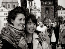 Two Happy Ladies In Prague by OllieWie