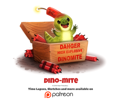 Day 1403. Dino-mite by Cryptid-Creations