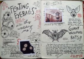 Gravity Falls Journal 3 Replica - Eye Balls 'n Bat by leoflynn