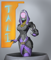 Tali Zorah vas Normandy by fakefrogs