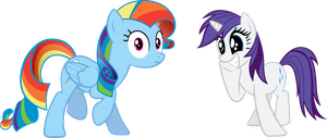Rainbow Dash and Rarity by rolin11