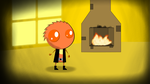 Having fun with his Little Inferno fireplace by Roler42