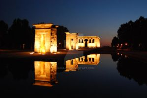 Templo de Debod, Madrid by Maria-92