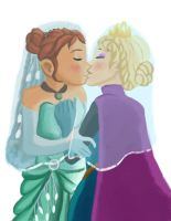 Elsanna wedding (drawing 1) by Arendellecitizen