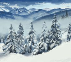 Speed Paint Winter by Eliket