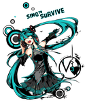 Sing to Survive - Hatsune Miku by Nyanfood