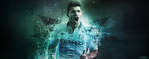 Aguero Man City by WALIDINHOOO
