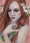 Sweet Rose - ACEO by KatrinaWinter