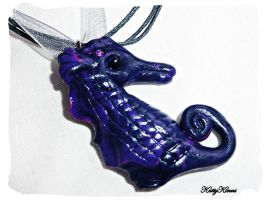 Seahorse Charm Necklace by Cateaclysmic