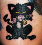 Bad Kitty Tattoo by mwdtrs